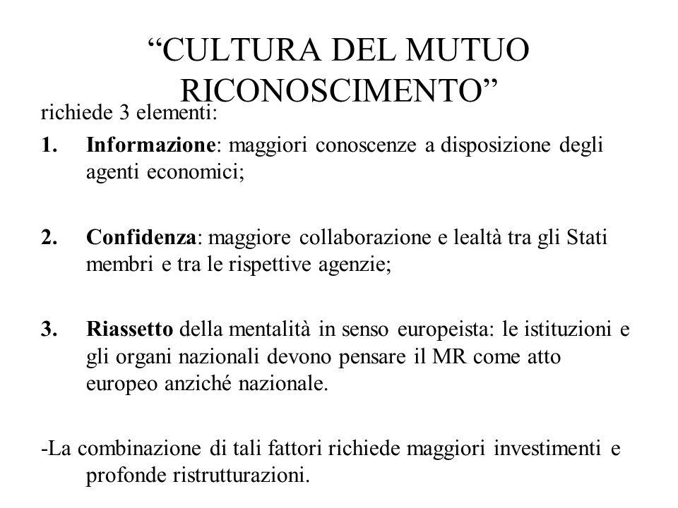 CULTURA DEL MUTUO RICONOSCIMENTO
