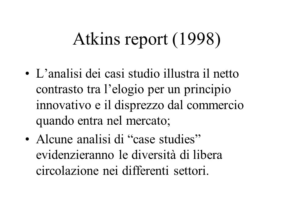 Atkins report (1998)