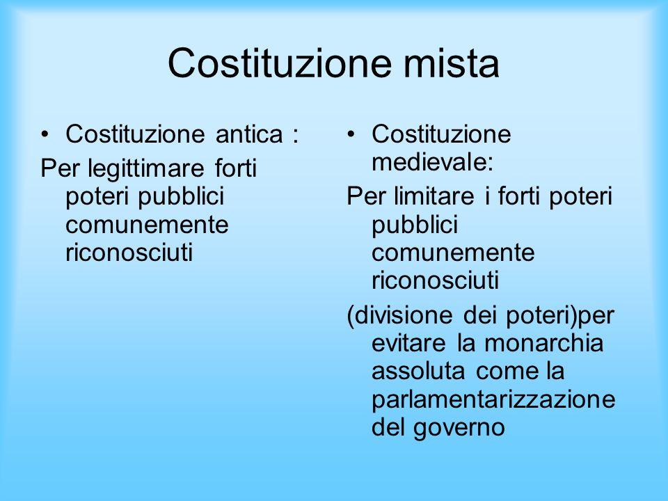 Costituzione mista Costituzione antica :