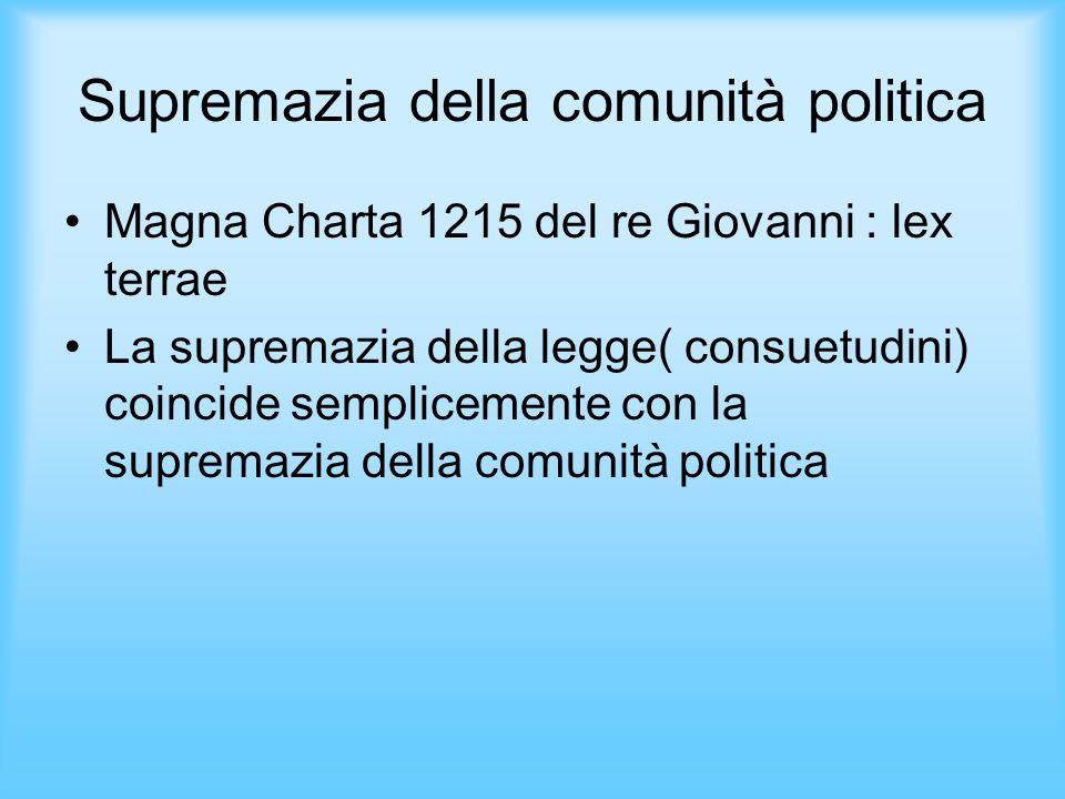 Supremazia della comunità politica