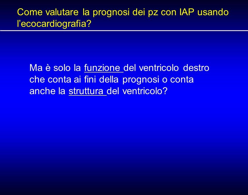Come valutare la prognosi dei pz con IAP usando l'ecocardiografia