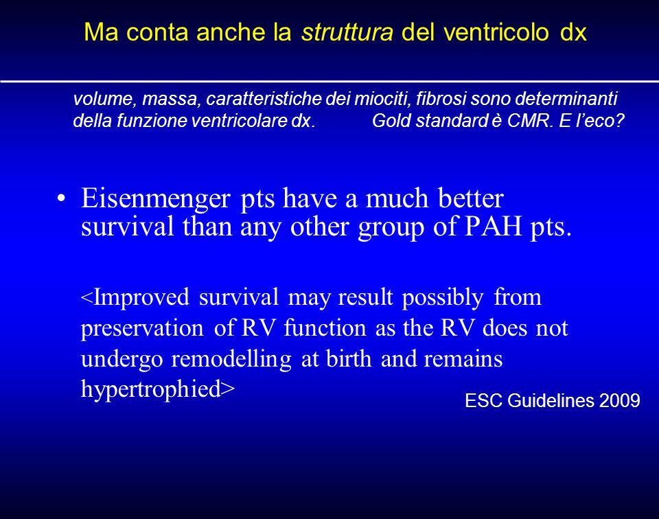 Ma conta anche la struttura del ventricolo dx