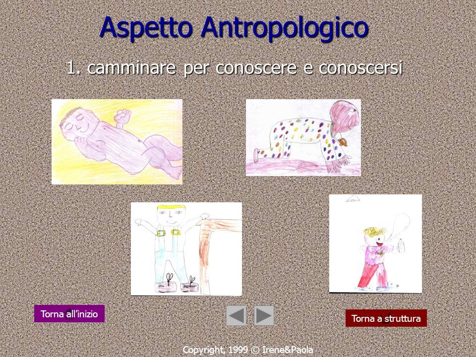 Aspetto Antropologico 1. camminare per conoscere e conoscersi