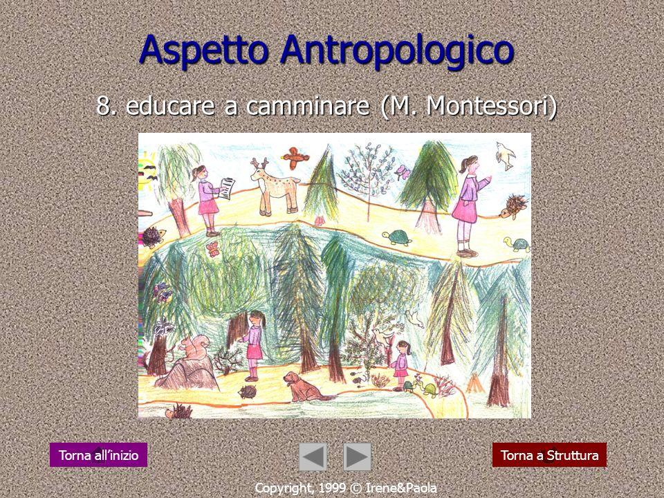 Aspetto Antropologico 8. educare a camminare (M. Montessori)