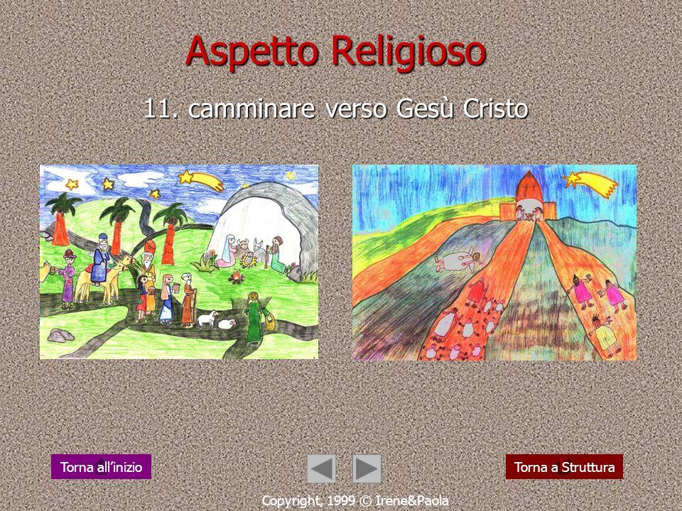 Aspetto Religioso 11. camminare verso Gesù Cristo