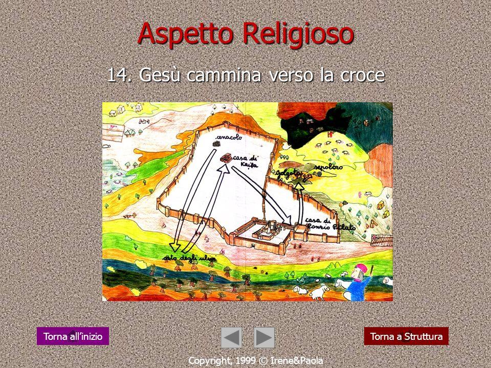 Aspetto Religioso 14. Gesù cammina verso la croce
