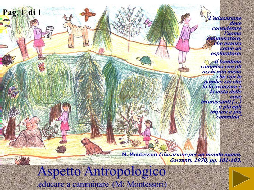 Aspetto Antropologico .educare a camminare (M: Montessori)