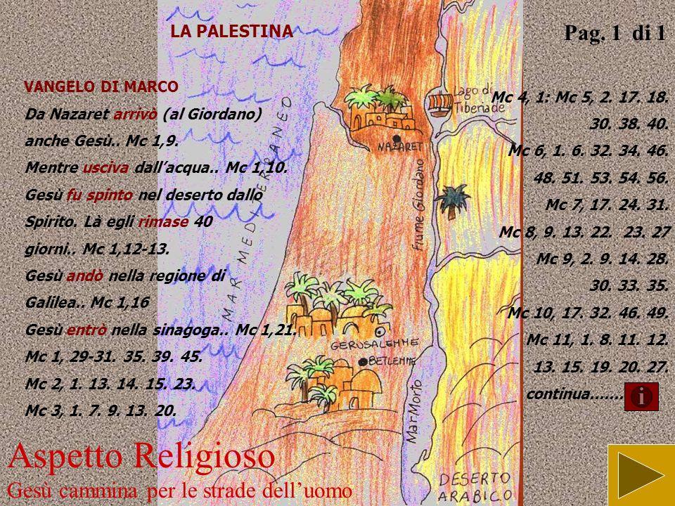 Aspetto Religioso Gesù cammina per le strade dell'uomo