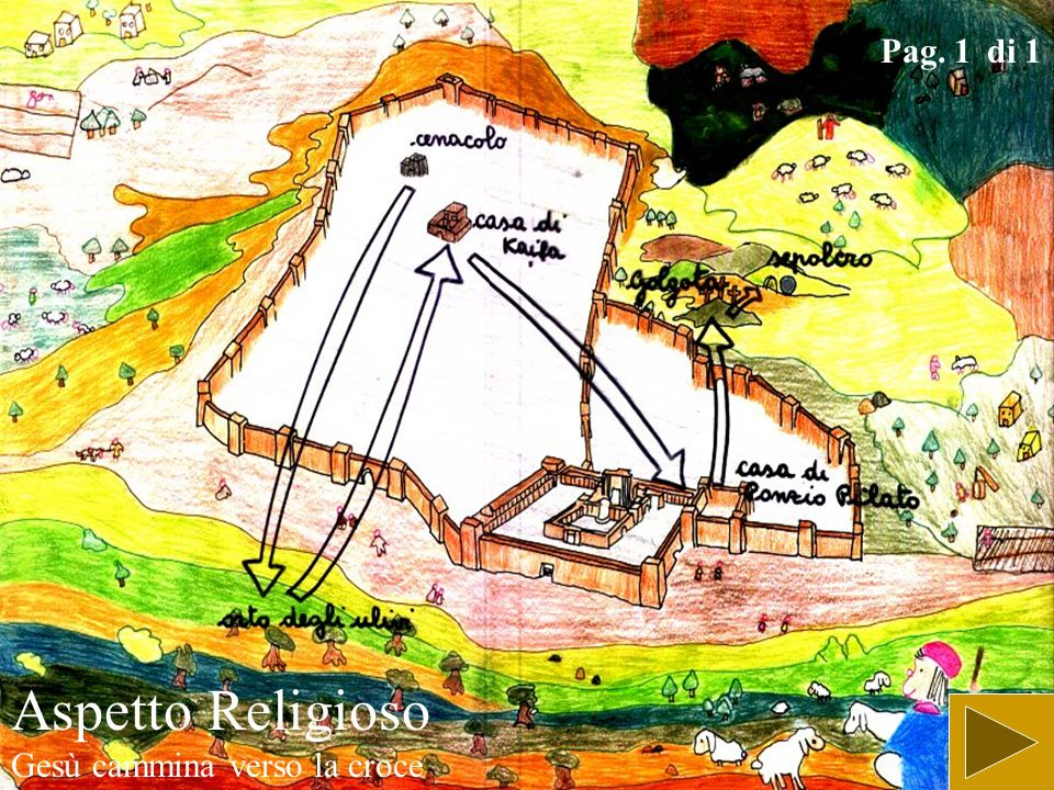 Aspetto Religioso Gesù cammina verso la croce