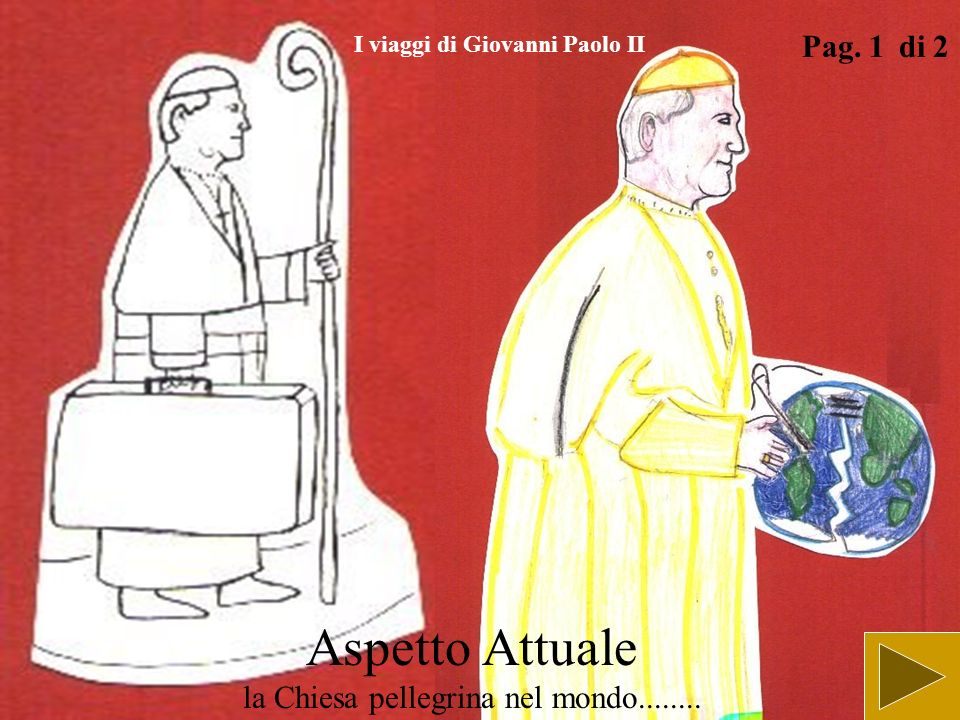 Aspetto Attuale la Chiesa pellegrina nel mondo........