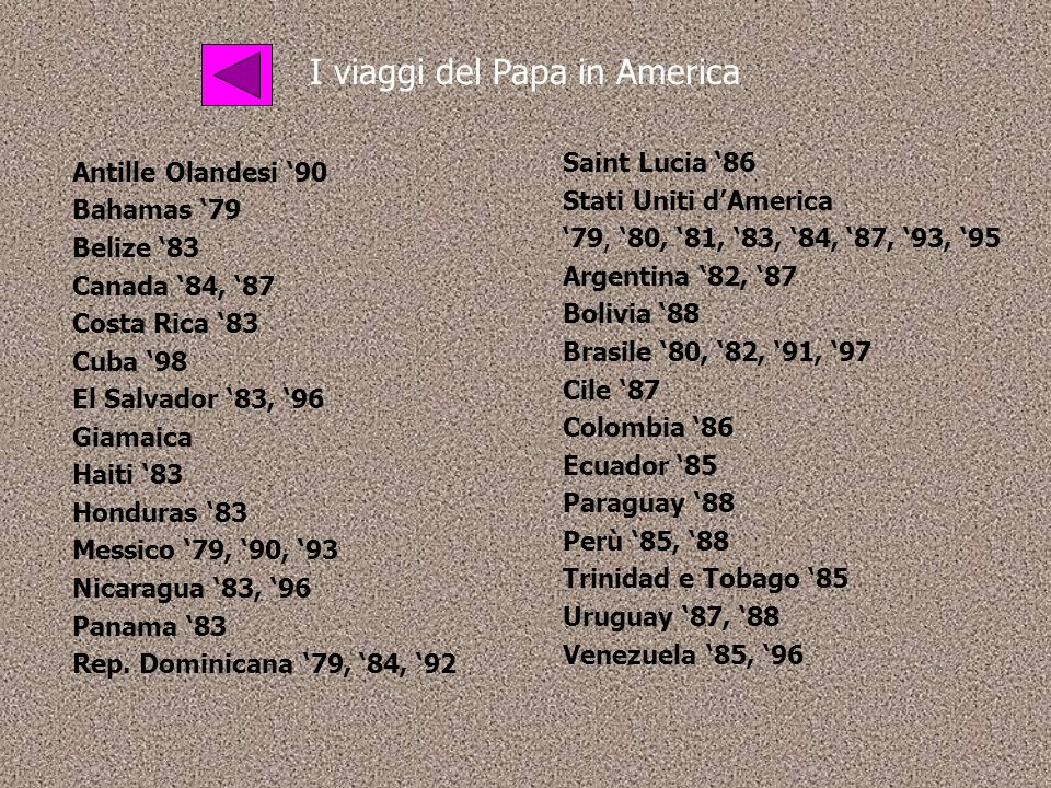 I viaggi del Papa in America