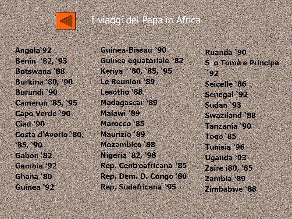 I viaggi del Papa in Africa