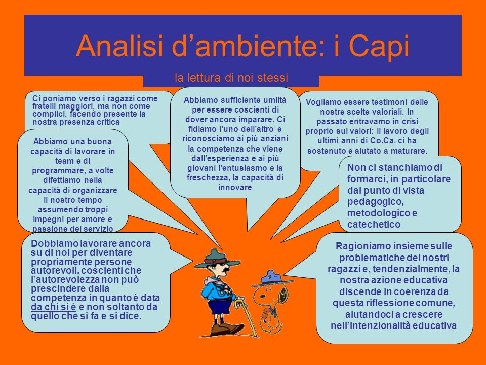 Analisi d'ambiente: i Capi