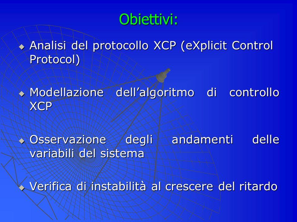 Obiettivi: Analisi del protocollo XCP (eXplicit Control Protocol)