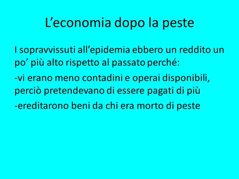 L'economia dopo la peste