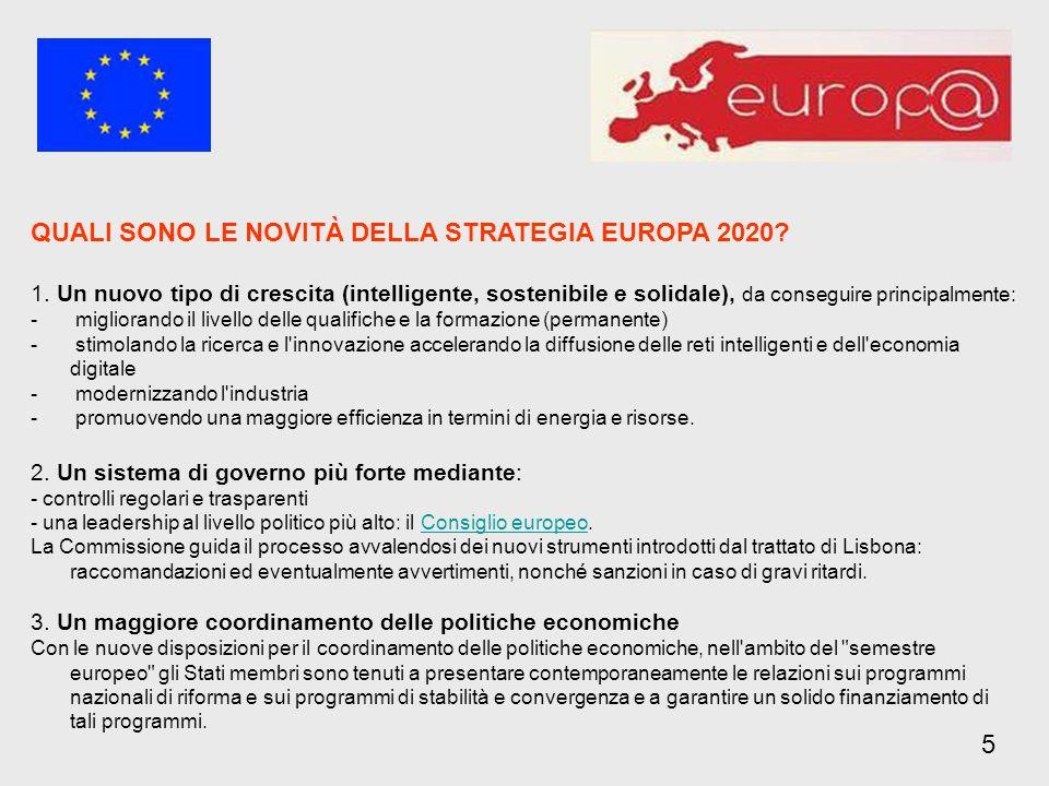 QUALI SONO LE NOVITÀ DELLA STRATEGIA EUROPA 2020