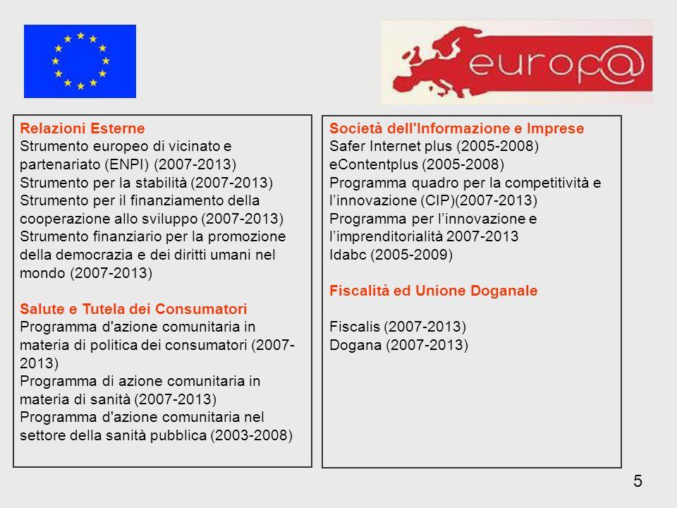 5 Relazioni Esterne Società dell Informazione e Imprese