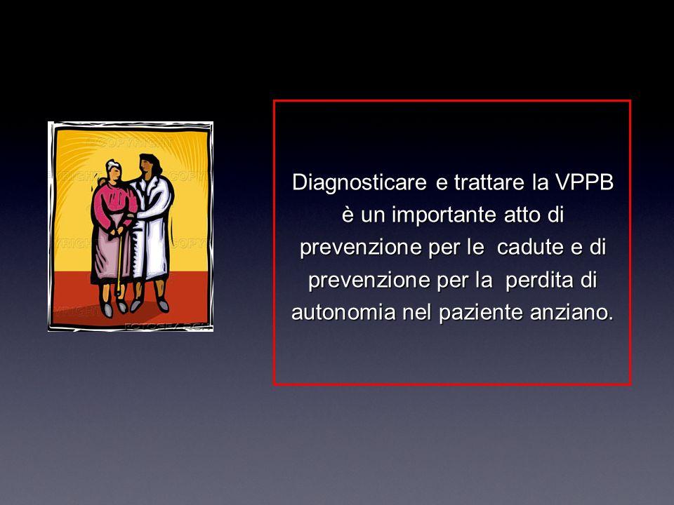 Diagnosticare e trattare la VPPB è un importante atto di