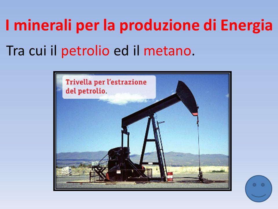 I minerali per la produzione di Energia