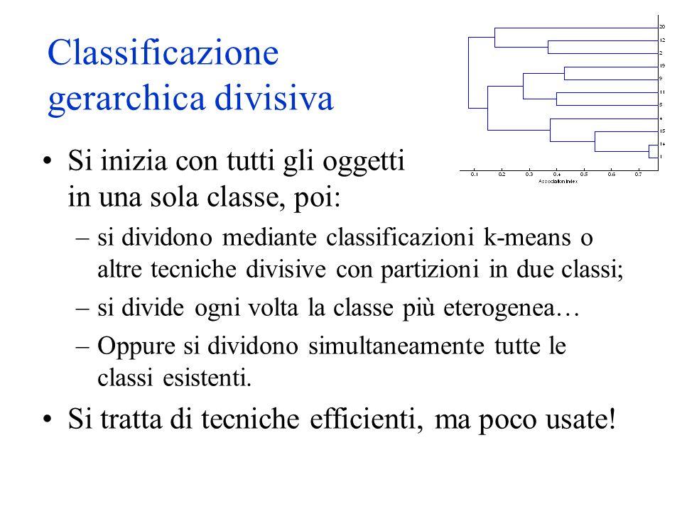 Classificazione gerarchica divisiva