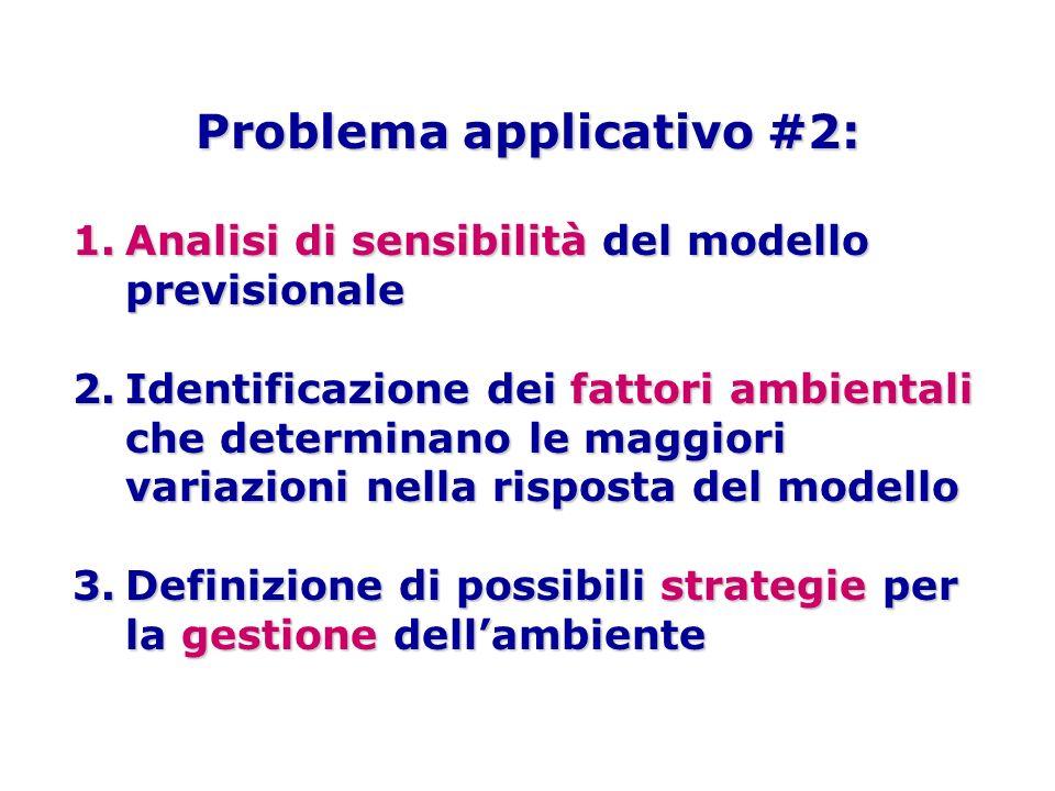 Problema applicativo #2: