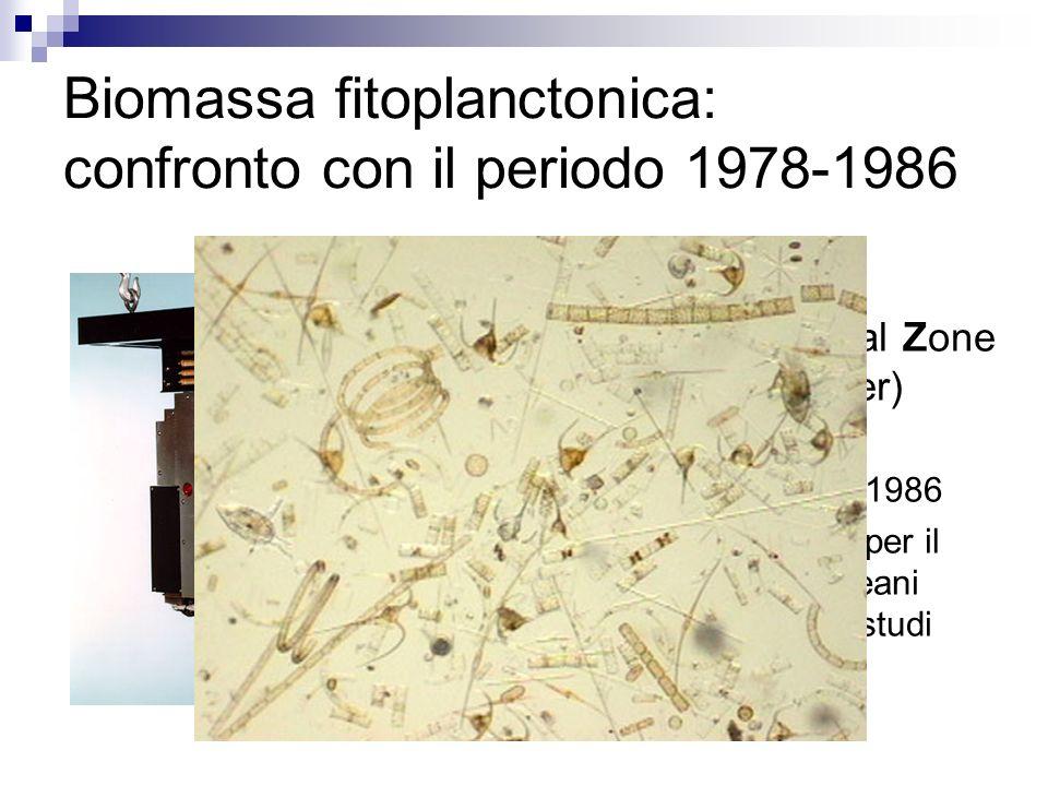 Biomassa fitoplanctonica: confronto con il periodo 1978-1986