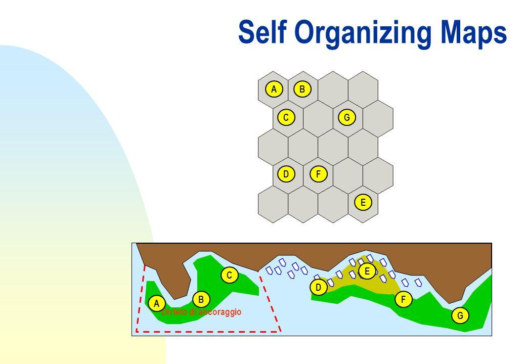 Self Organizing Maps A B C G D F E E C D B F A Divieto di ancoraggio G