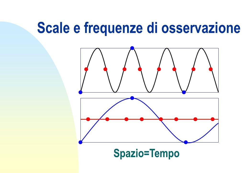 Scale e frequenze di osservazione