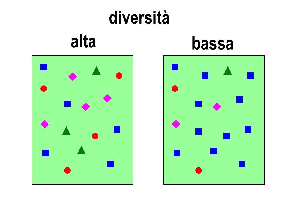 diversità alta bassa