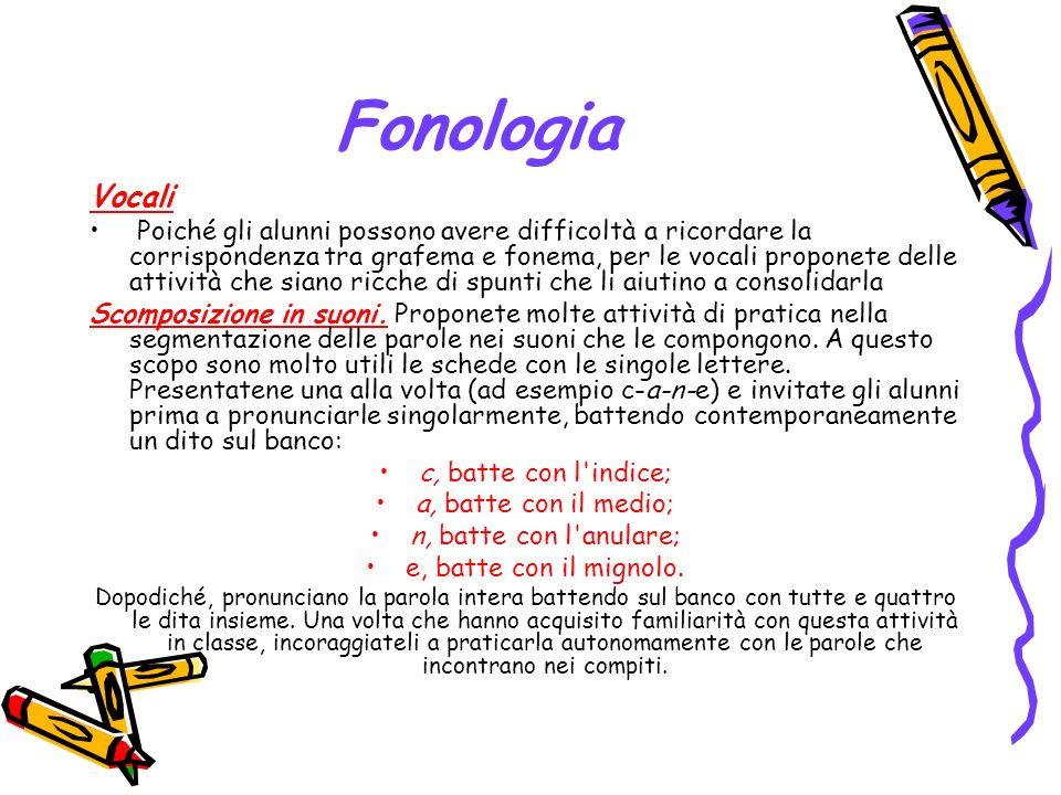 Fonologia Vocali.