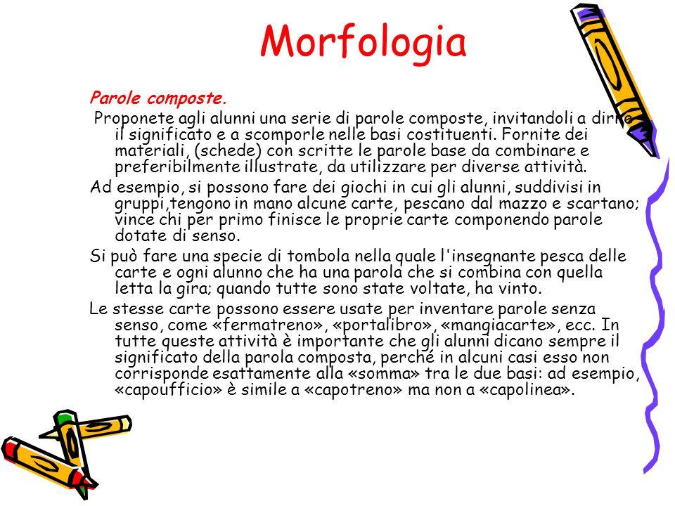 Morfologia Parole composte.