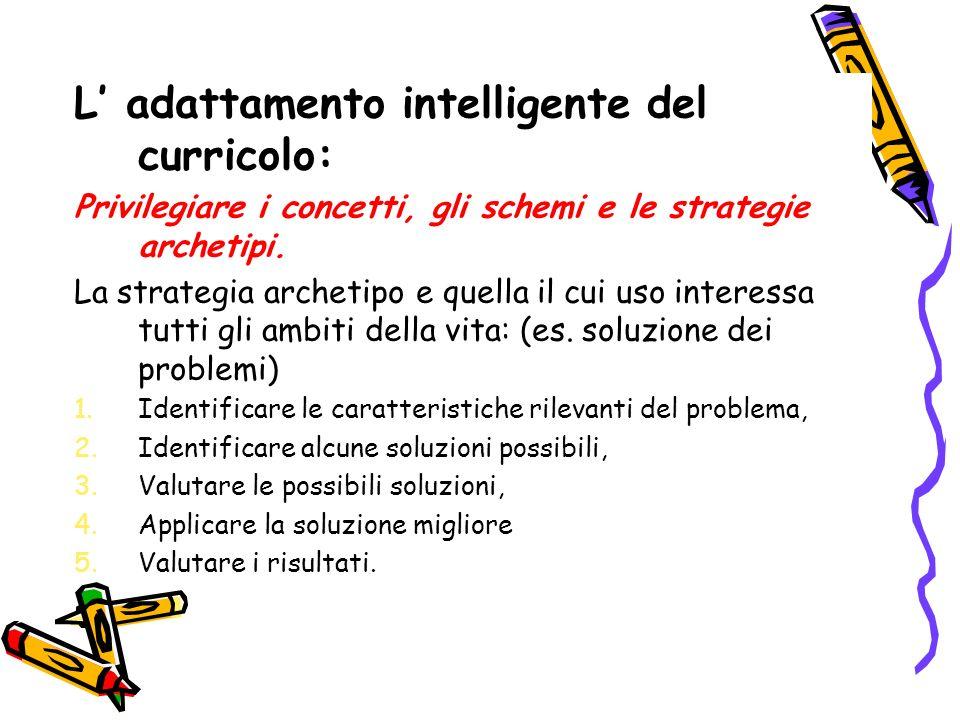L' adattamento intelligente del curricolo:
