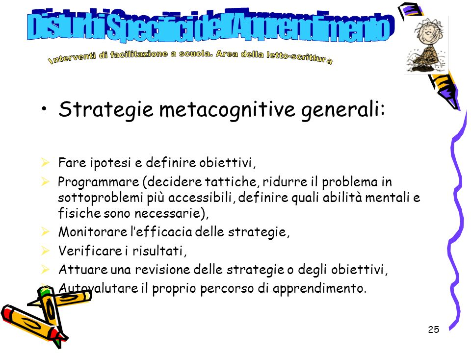 Strategie metacognitive generali: