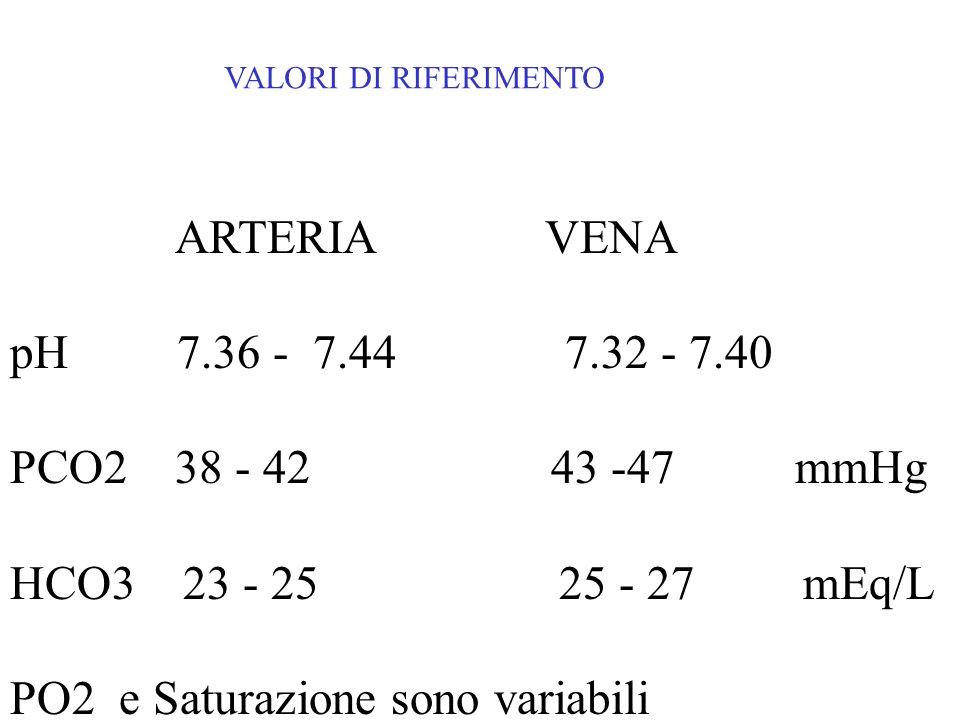 PO2 e Saturazione sono variabili