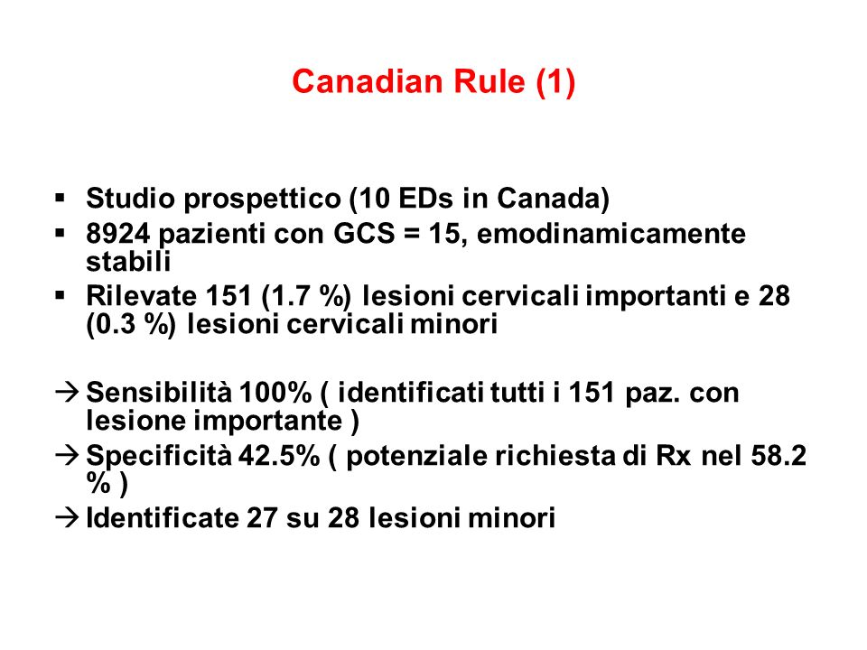 Canadian Rule (1) Studio prospettico (10 EDs in Canada)
