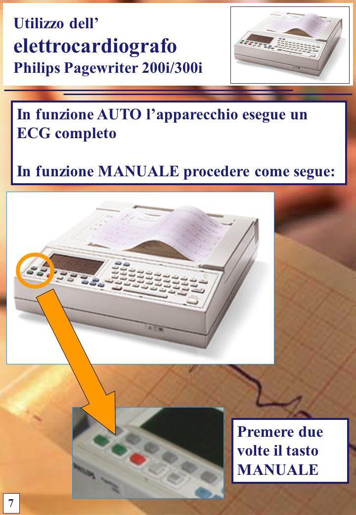 elettrocardiografo Utilizzo dell' Philips Pagewriter 200i/300i