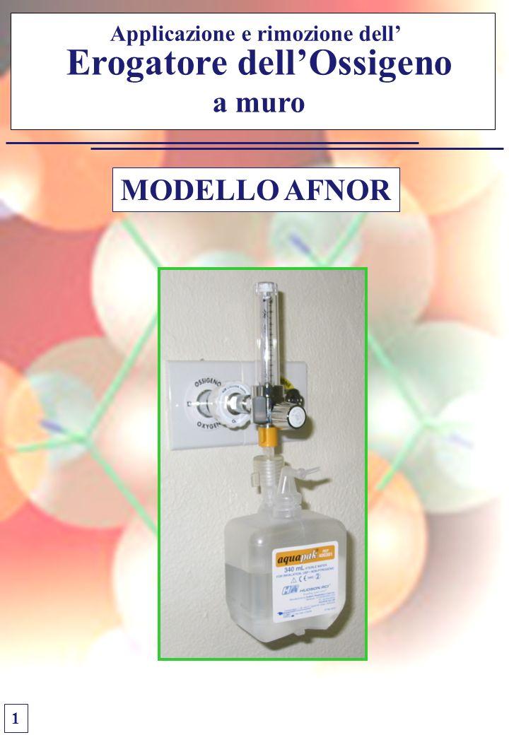 Applicazione e rimozione dell' Erogatore dell'Ossigeno