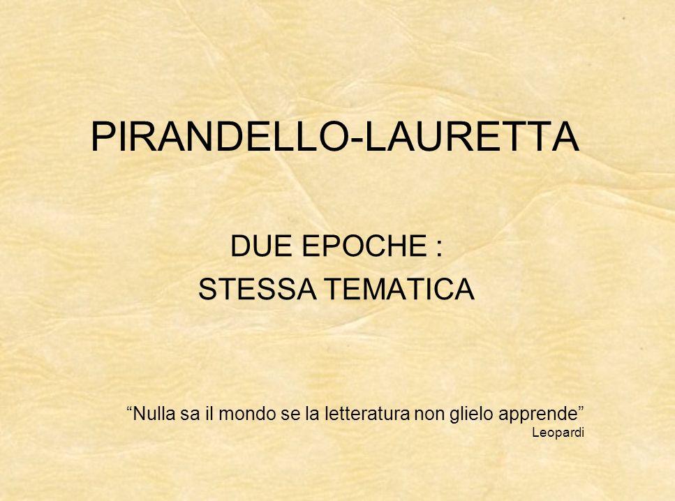 DUE EPOCHE : STESSA TEMATICA