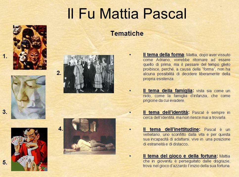 Il Fu Mattia Pascal Tematiche