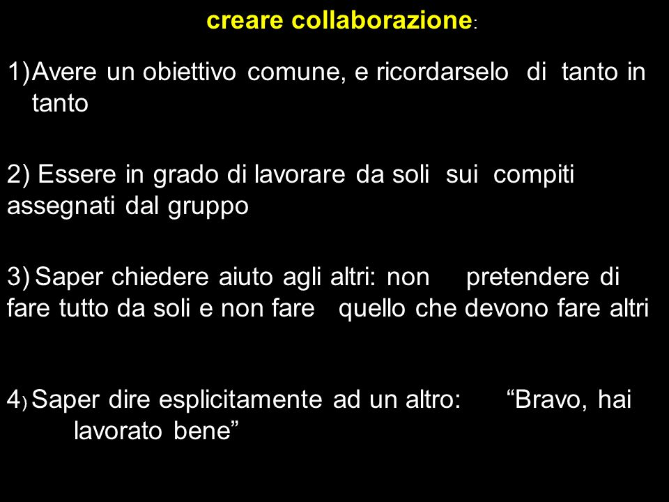 creare collaborazione: