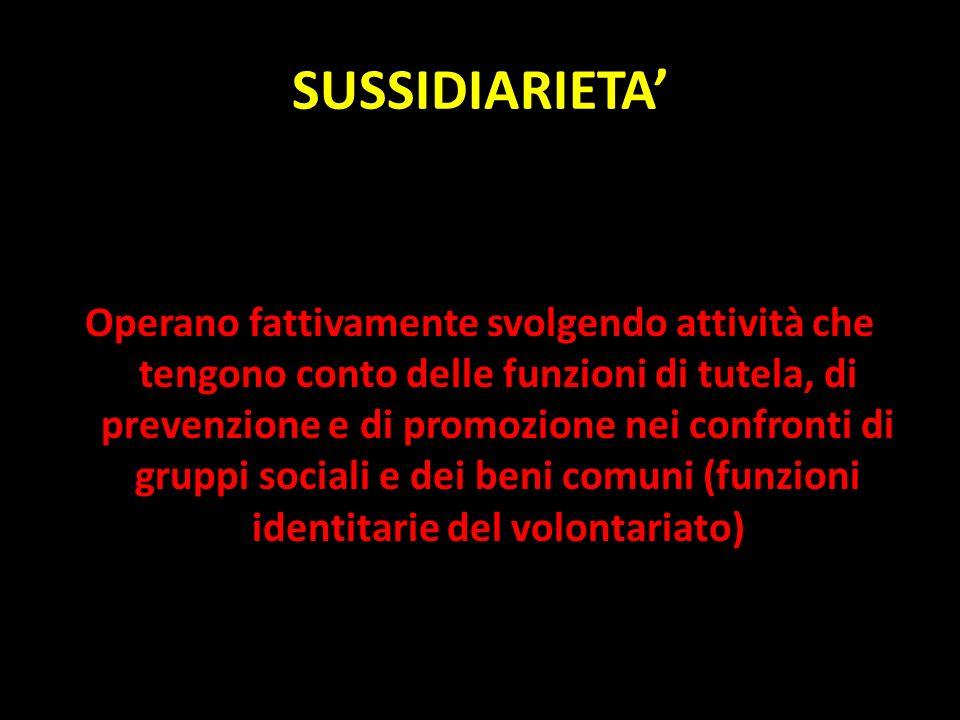 SUSSIDIARIETA'