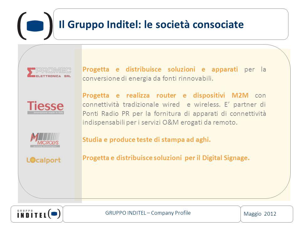 Il Gruppo Inditel: le società consociate