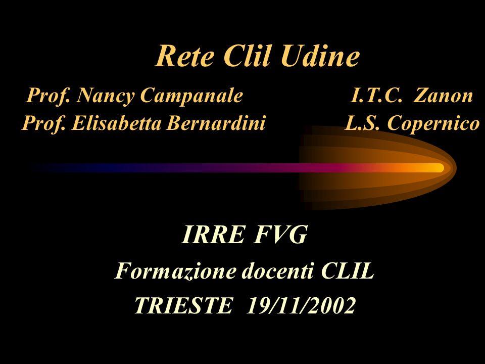 IRRE FVG Formazione docenti CLIL TRIESTE 19/11/2002