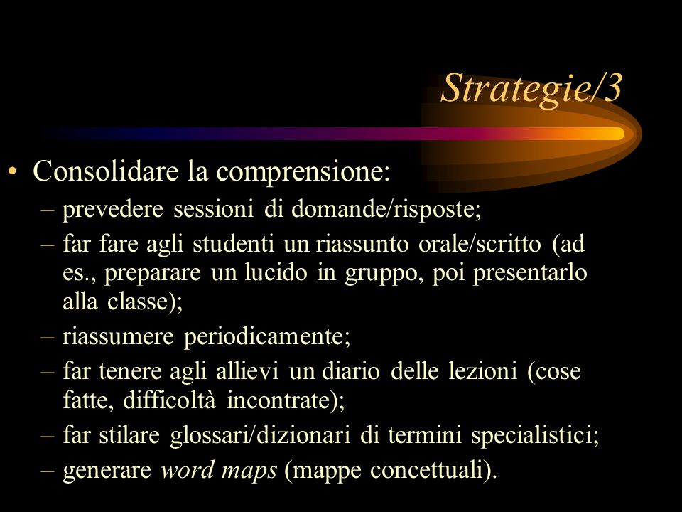 Strategie/3 Consolidare la comprensione: