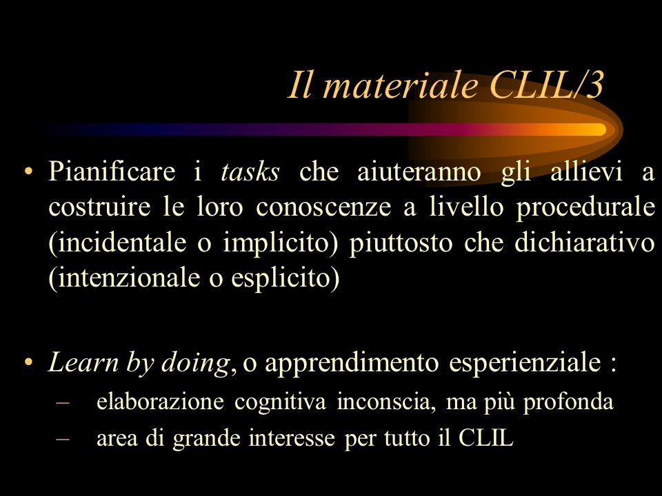 Il materiale CLIL/3