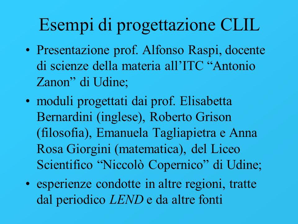 Esempi di progettazione CLIL