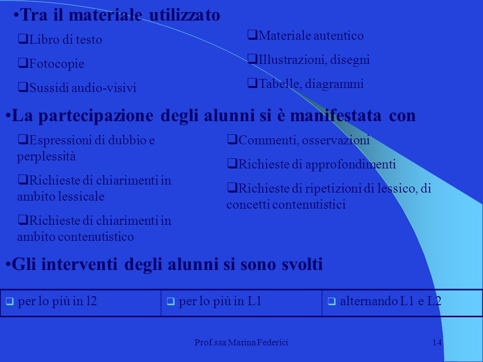 Prof.ssa Marina Federici