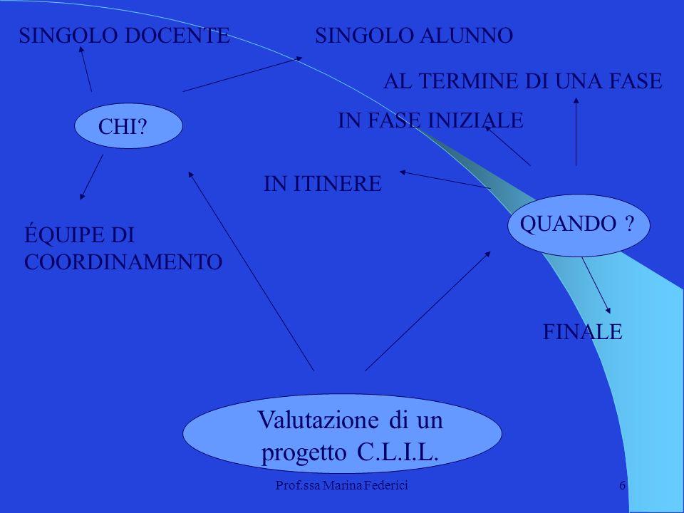 Valutazione di un progetto C.L.I.L.