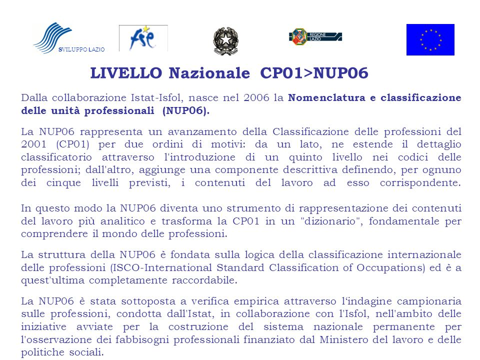 LIVELLO Nazionale CP01>NUP06
