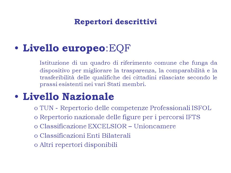 Repertori descrittivi